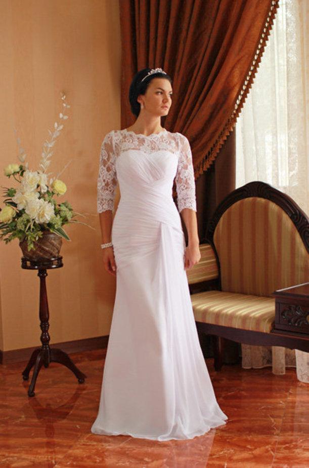 Закрытое Свадебное Платье Купить
