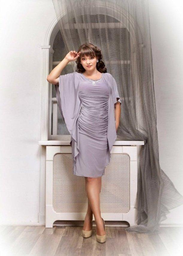 Платья короткие для полных Нинель, 48-52