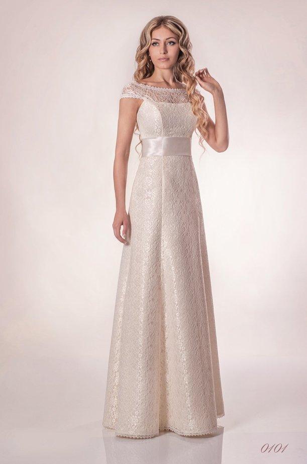 2f326306d966e19 Прямые свадебные платья: Dianelli 0101. Прямое кружевное свадебное платье