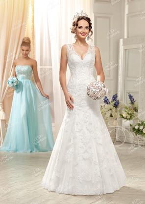 3fce3420737 Купить свадебное платье Рыбка (Русалка) со шлейфом из кружева в ...