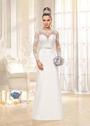 1677c8e273e22bd Закрытые свадебные платья с длинными рукавами из кружева для ...
