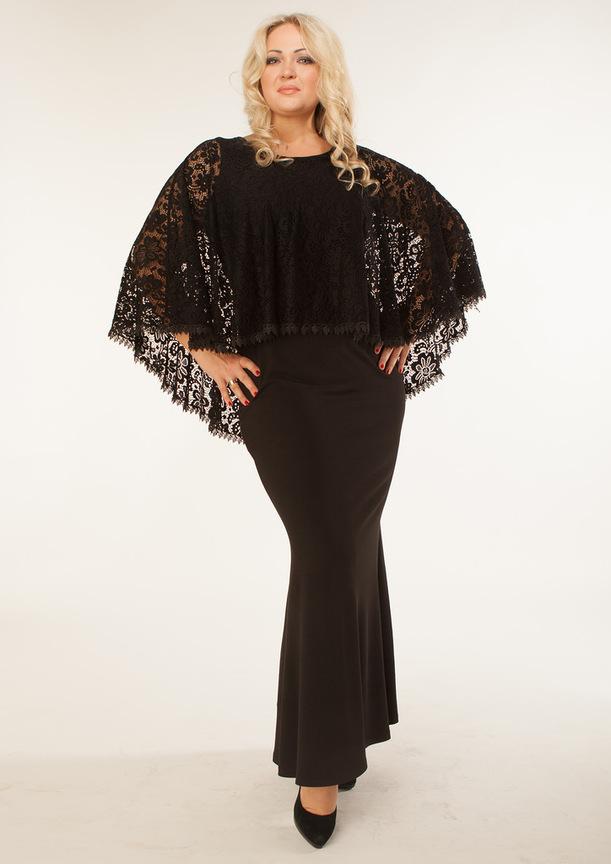 088587d29cddde9 Вечерние платья больших размеров: Черное платье большого размера