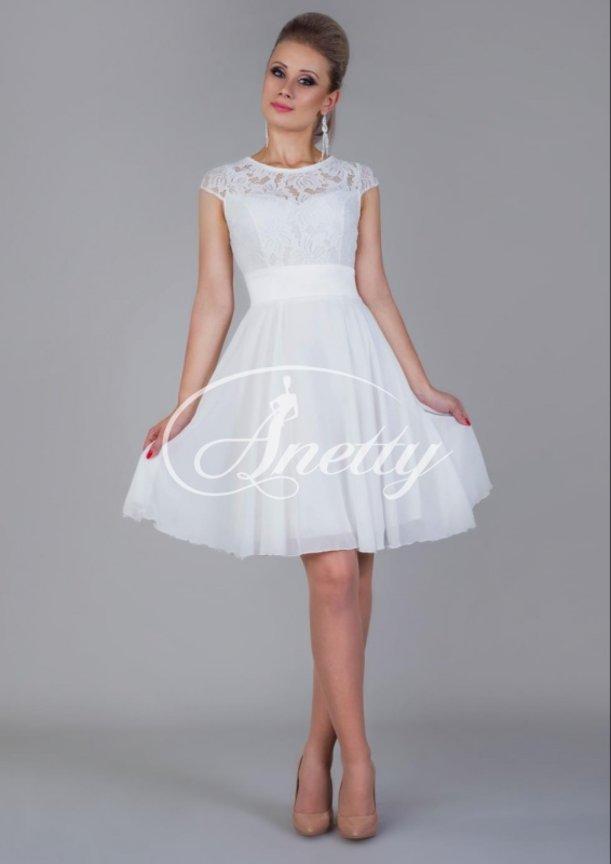 f4e33dd303d9864 Короткие (коктейльные) вечерние платья: Короткие свадебные платья дешево  Юнис 002, 40